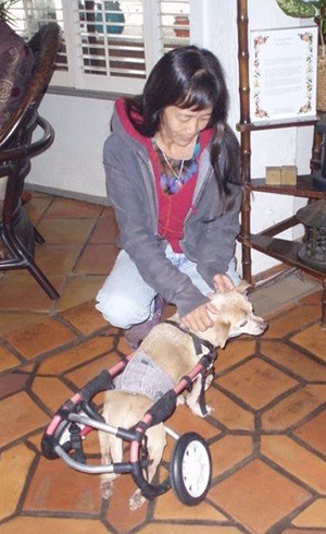 Allison Chun with dog
