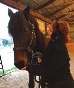 Julie Bandalin and her horse